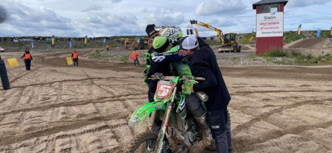 Indrek Mägi on clinching the Finnish MX1 title