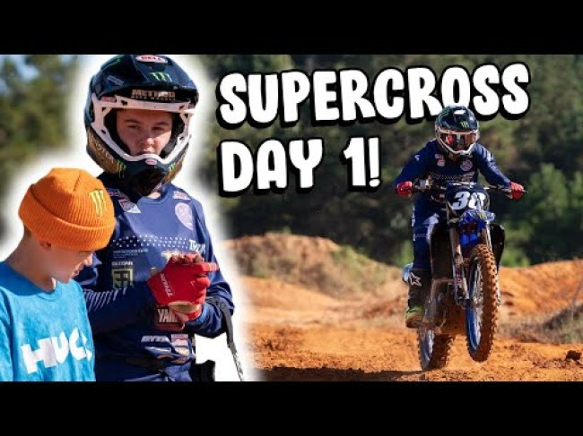 Video: Haiden Deegan – first day of Supercross on the Star Yamaha